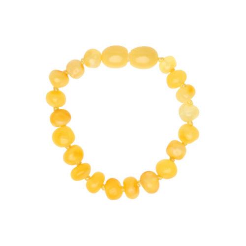 Babyzz bursztynowa bransoletka na ząbkowanie kolor Miodowy 1