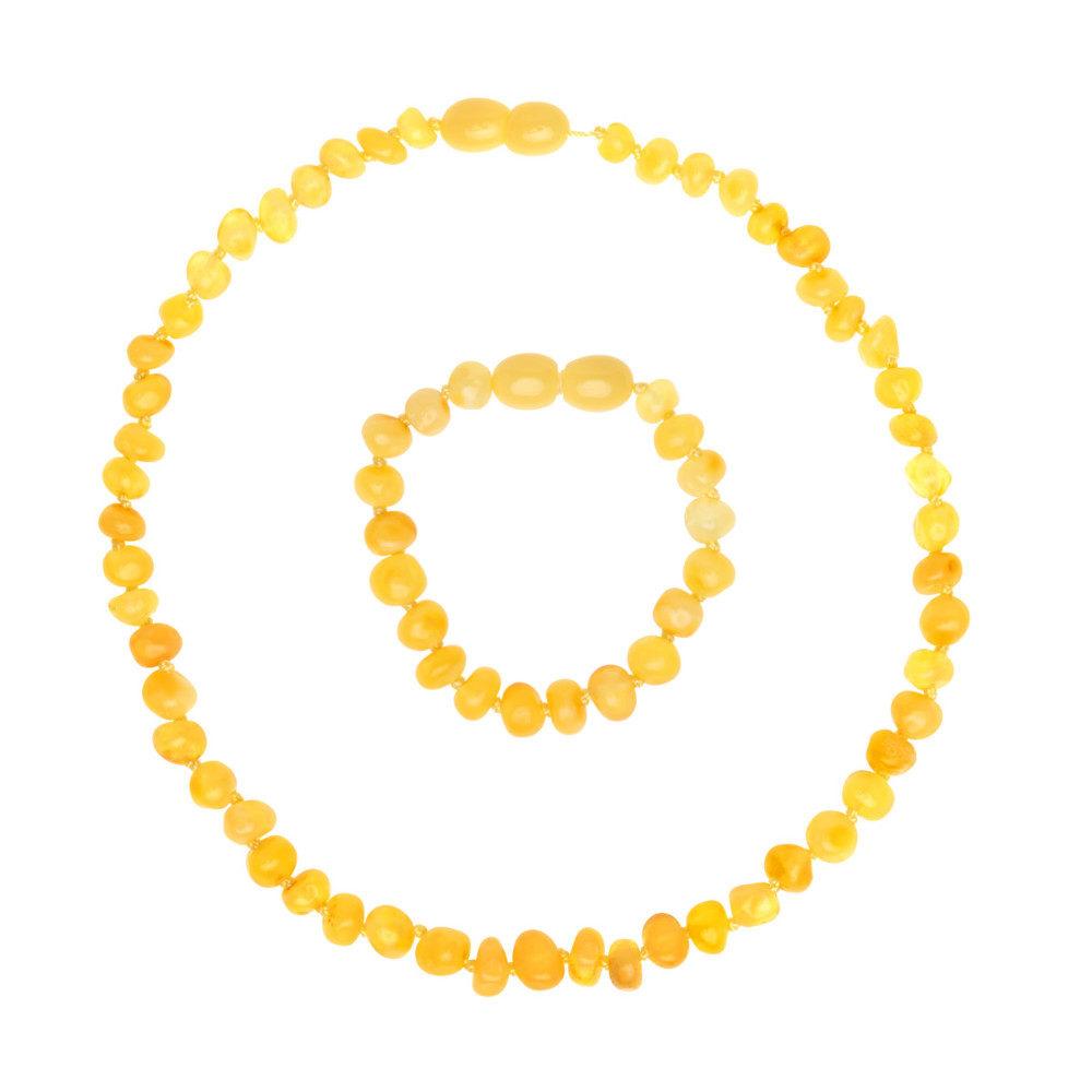 Babyzz bursztynowy zestaw na ząbkowanie kolor Miodowy