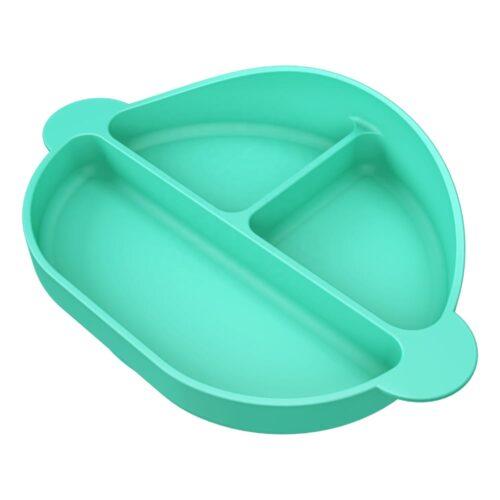 Sylikonowe naczynie dla dzieci zielone.